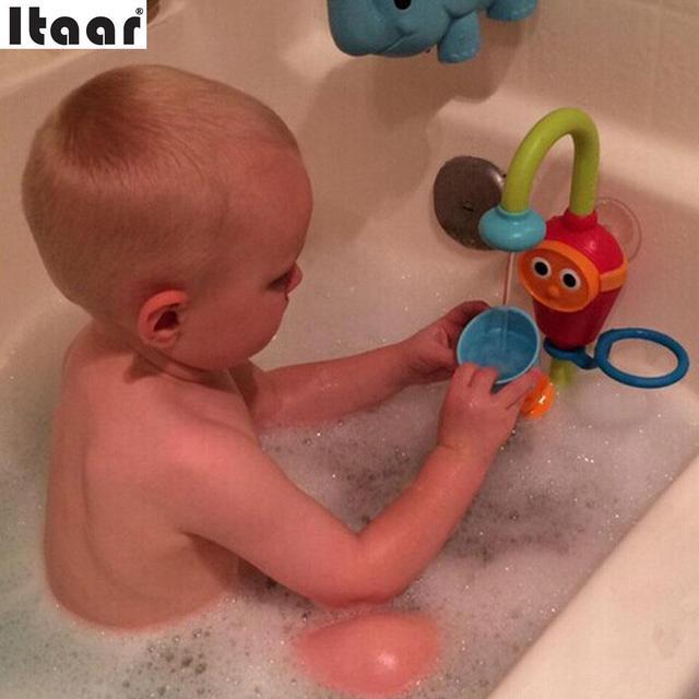 Los Niños del bebé Lindo No Tóxicos Juguetes de Baño Aerosol Bathingroom Ducha Accesorios