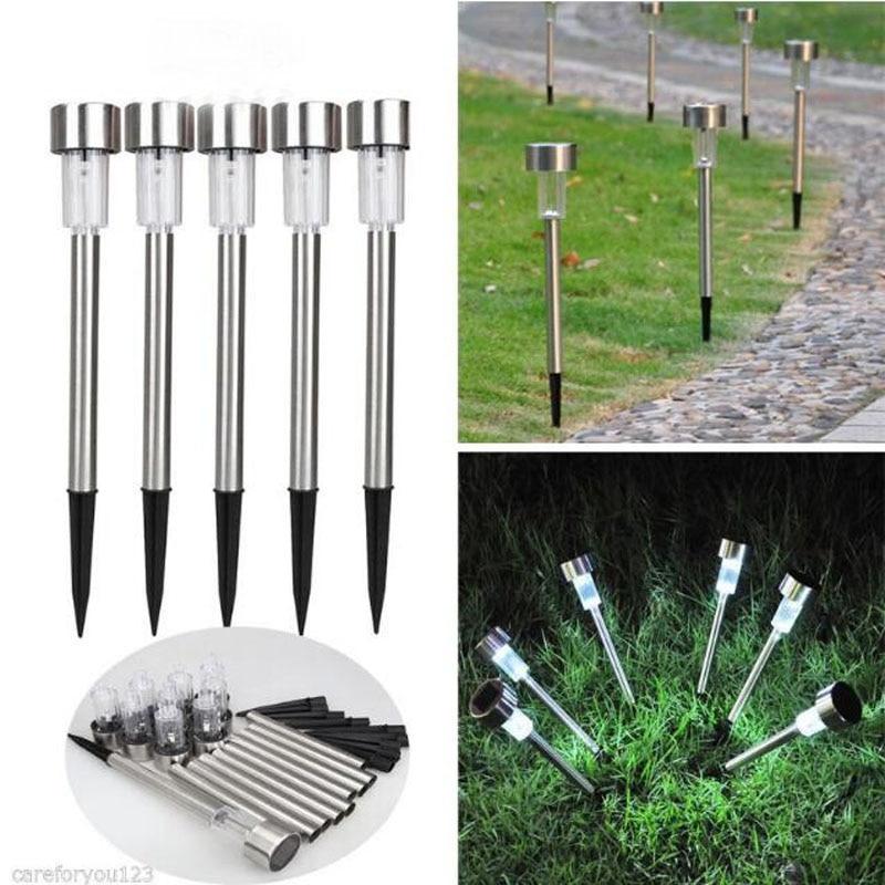 1 Pc Wasserdicht Solar-led-pfad Garten Im Freien Rasen Edelstahl Mode Spot Lampe Led Urlaub Hof Beleuchtung Garten Dekoration