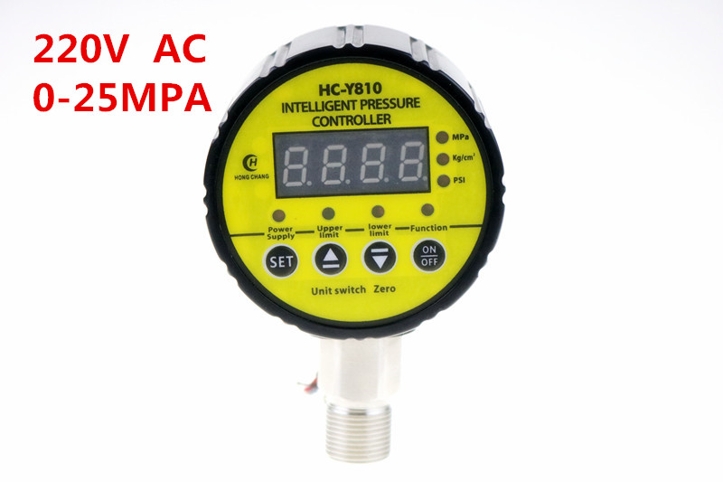 0-25 mpa AC220V Digital display electric contact pressure gauge digital controller factory electric contact thermometer gauge full specification sx411
