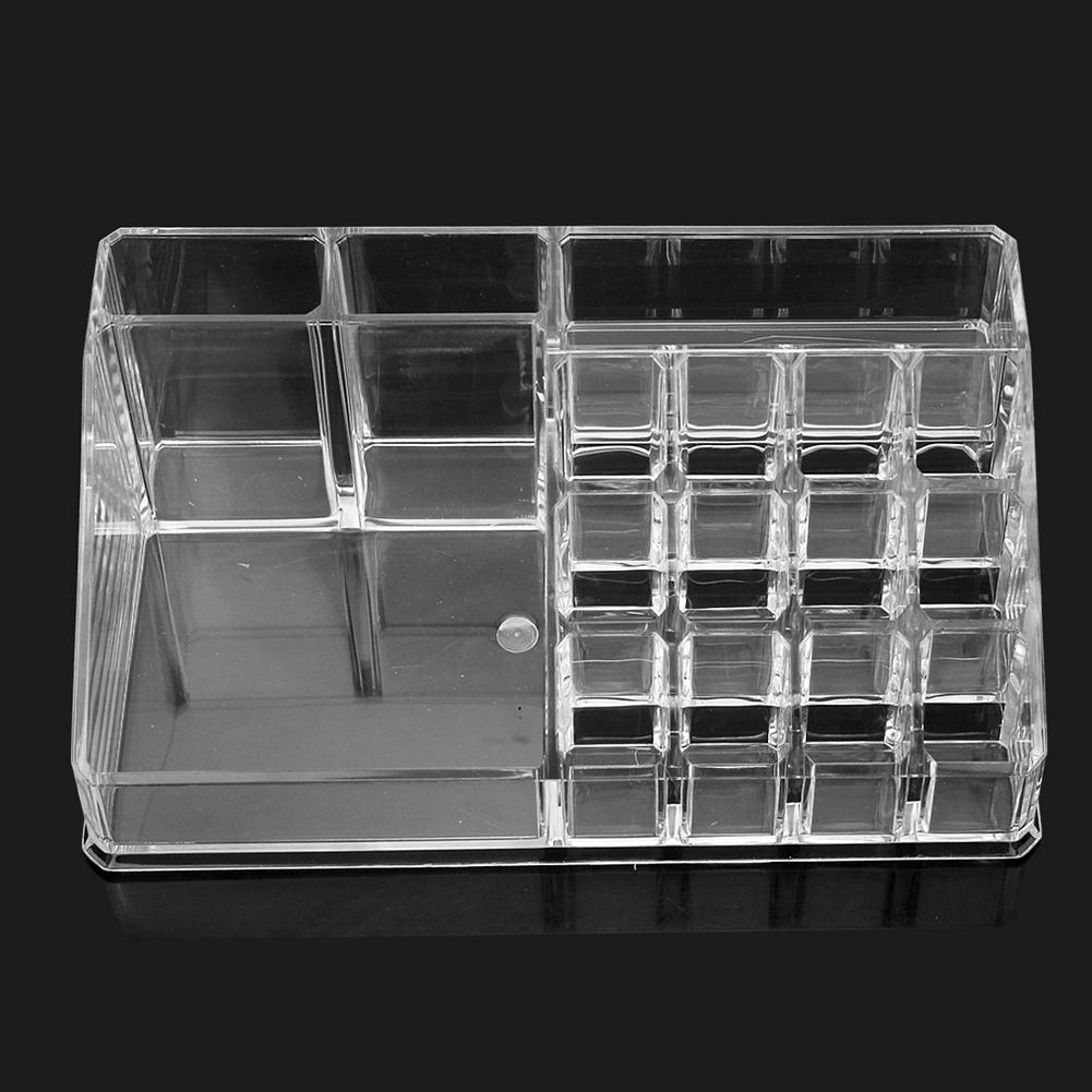 Professional Acrylic Trapezoid Cosmetic Clear Makeup Jewelry Storage