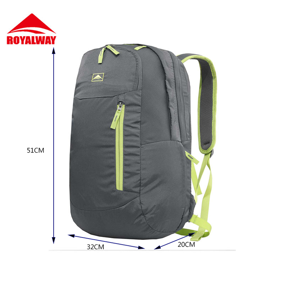 ФОТО ROYALWAY Men Lap Top Backpack Large Space Good Quality Treval Outdoor Bag Free Shipping 2017 New Arrival#RPBB0519F