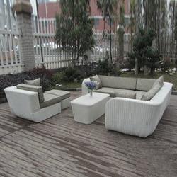 6-pcs PE rattan beach sofasPastoralism Home Indoor / Outdoor Rattan Sofa For Living Room