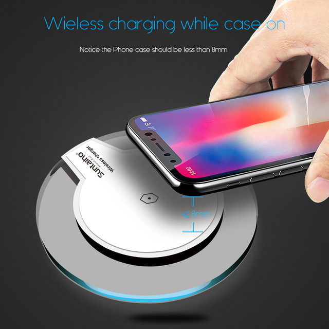 Qi Wireless Charger for Samsung Galaxy S9 S8 Plus Suntaiho Fashion Charging Dock Cradle Charger for iphone XS MAX XR 8Plus phone 2