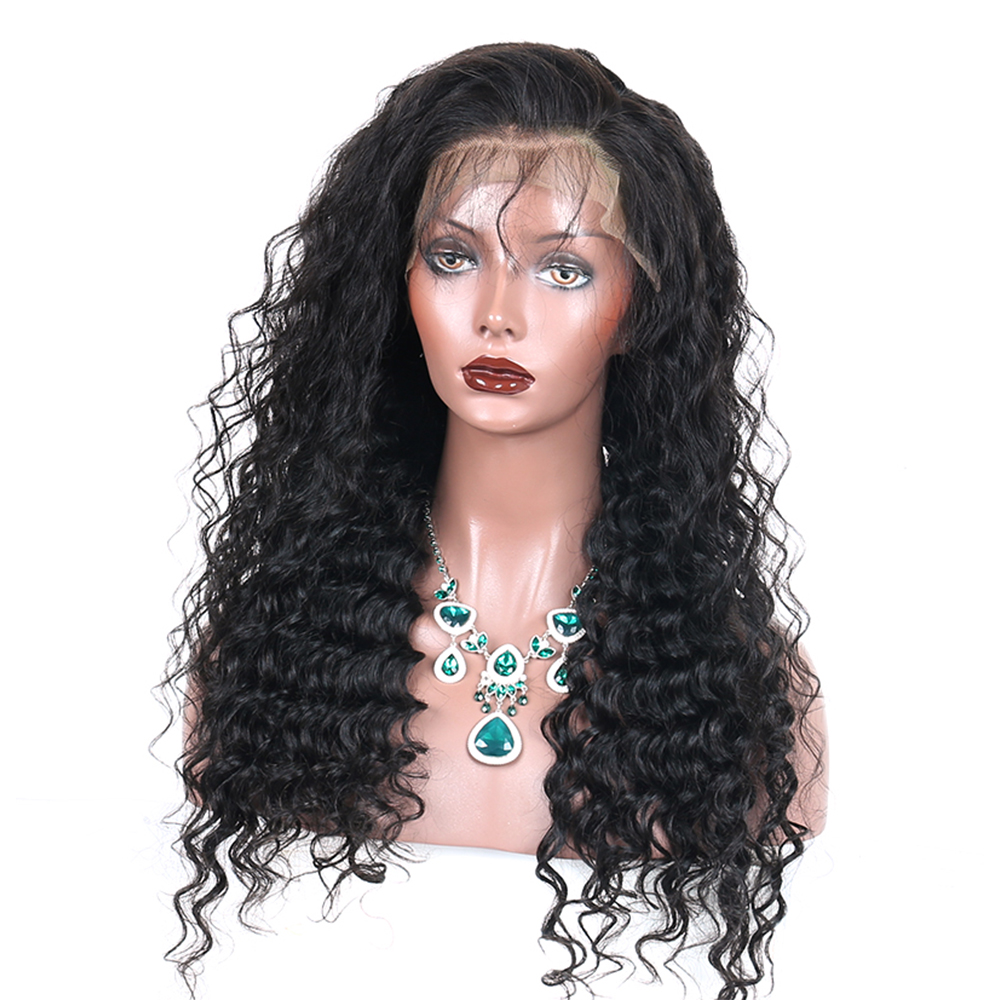 250% Loose Wave Lace Front Human Hair Parykker For Women Natural - Menneskehår (sort) - Foto 2