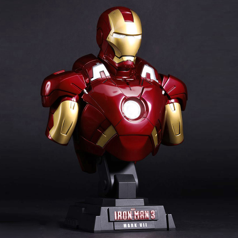 marvel The Avengers Iron Man Mark 7 1/4 bust statue sculpture model  Decorative ornaments