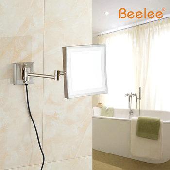 Beelee Wandmontage profesjonalny sprawiają że Spiegel oświetlenie LED Iicht 8 cal 3x Vergroting sprawiają że Spiegel złoty Geschenken Spiegel tanie i dobre opinie BL9105G Nowoczesne Plac Powiększające Wyposażone Aluminium Oprawione lustra Bath Mirrors Framed Mirrors