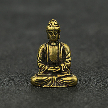 Buddha Zen Statue Pocket Sitting Buddha Hand Toy Sculpture Home Office Desk Decorative Ornament Gift 1