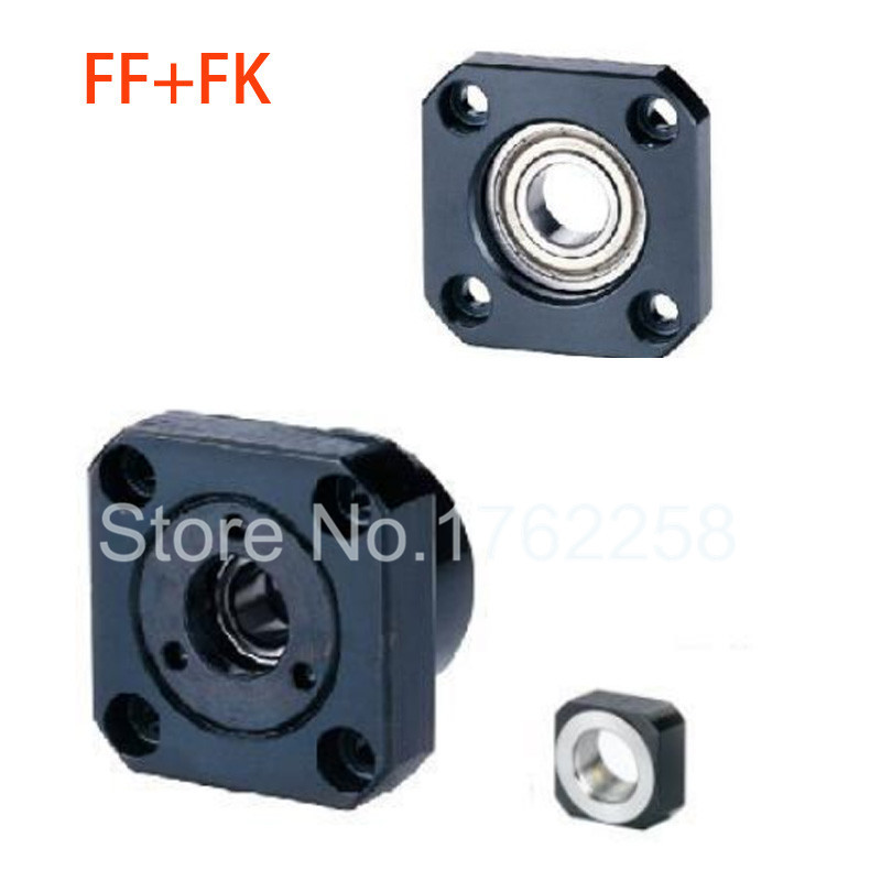 1 pcs FK25 Fixed Side +1 pcs FF25 Floated Side Ballscrew CNC parts ball screw fk/ff25 end support 10pairs lot fk25 ff25 ball screw shaft guide end supports fixed side fk25 and floated side ff25