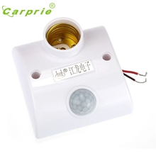 E27 Infrared Motion PIR Sensor Automatic LED Light Lamp Holder Switch L61206