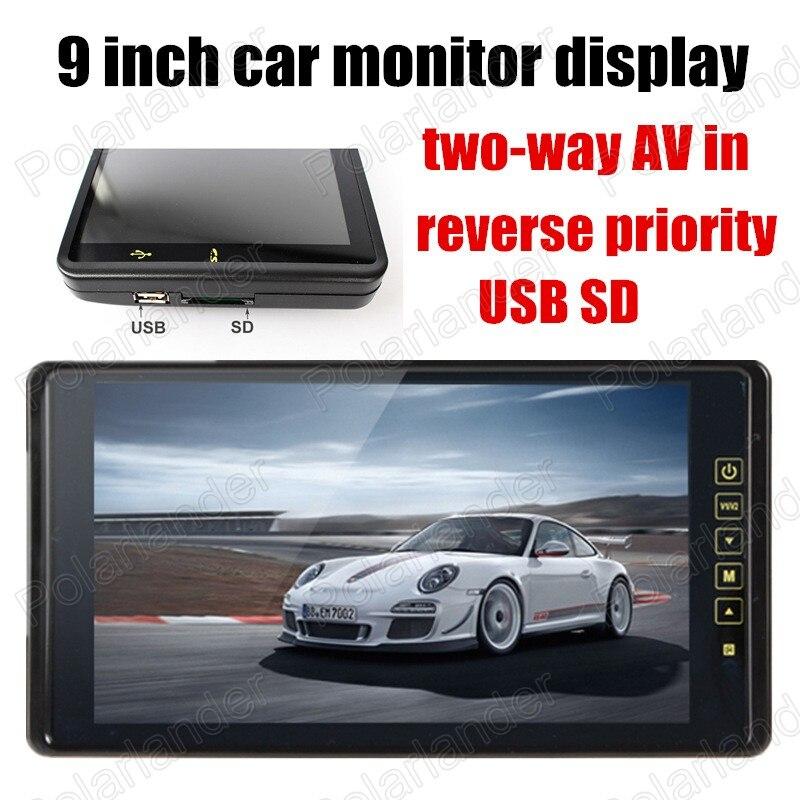 Новый 9 дюймов цветной TFT ЖК дисплей экран монитора SD USB оптовая продажа для камеры заднего вида Обратный приоритет двусторонняя AV в