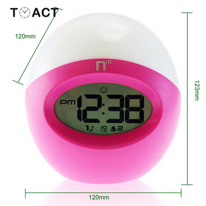 Snooze muet horloge électronique couleur Radio réveil numérique réveil montre électronique Table décoration de la maison Despertador