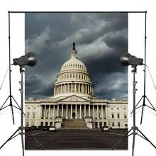 American Capitol Photography Background Magnificent Building Backdrop Studio Props Wall 150x220cm Photography Backdrop стоимость