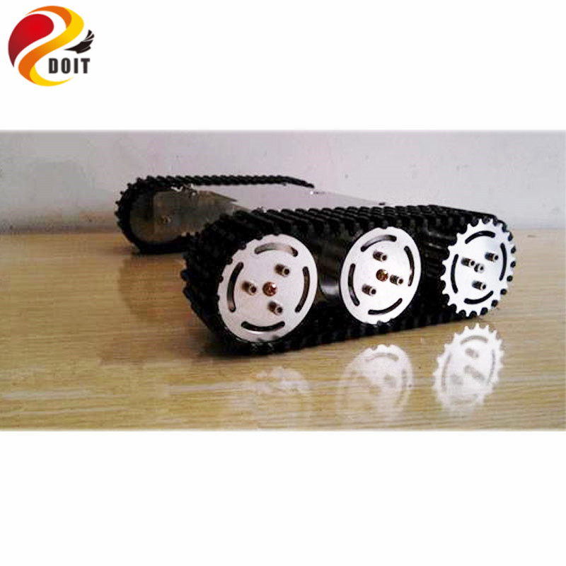 Official DOIT Update version Tank Car Chassis/ Tracked Car / Robot Parts Tank Car Chassis for Maker DIY official doit wall e tank smart car chassis tracked cars high torque motors and steel structure remote control smart car parts