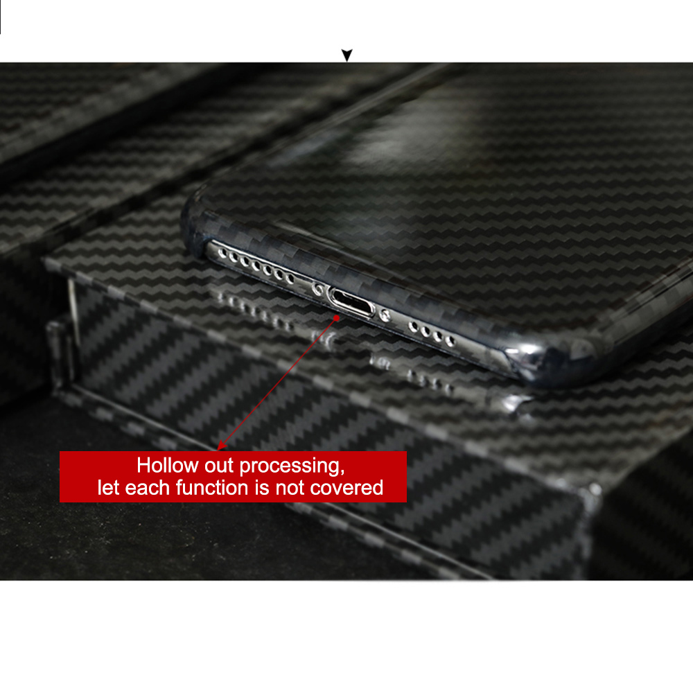 Image 3 - 0.7mm Ultra Thin Real Carbon Fiber Case for iPhone X Back Cover  Luxury Full Protection Carbon Fiber Pattern for iPhone X CaseFitted  Cases