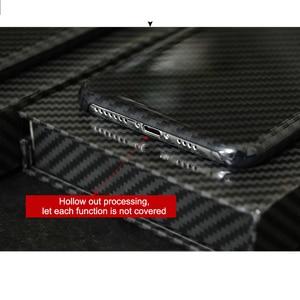 Image 3 - 0.7mm ultra fino caso de fibra carbono real para o iphone x capa traseira de luxo proteção completa padrão de fibra carbono para o iphone x caso