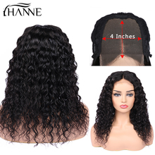 4*4 Lace Closure Human Hair Wigs Brazilian Water Wave Remy Wig Closure Lace Wigs For Black Women Free Ship Natural Black конструктор ninjago lego lego mp002xb00cao
