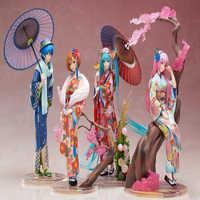 Anime Hatsune Miku Kaito y figura modelo meiko 25cm colección de acción kimono versión colección de acción juguete regalo
