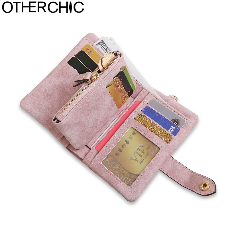 OTHERCHIC Nubuck Leather Women Short Wallets Ladies Fashion Small Wallet Coin Purse Female Card Wallet Purses Money Bag 7N03-41 vintage women short leather wallets stylish wallet coin card pocket holder wallet female purses money clip ladies purse 7n01 18