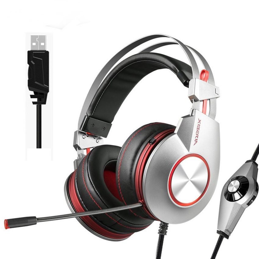 XIBERIA K5 meilleur casque de jeu avec Microphone USB 7.1 son/3.5mm casque de jeu de basse lourde pour PC Gamer PS4 Xbox one téléphone