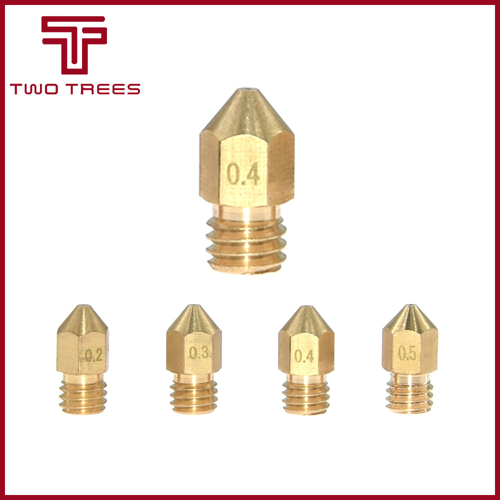 0.3//0.4//0.5mm Copper Nozzle Extruder Print Head HotEnd for MK8 Makerbot 1.75//3mm