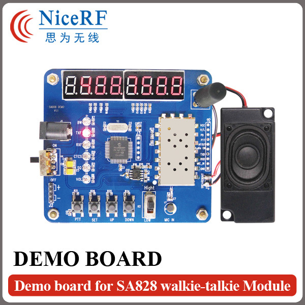 Free Shipping - LCD Display Testing Demo Board/Development Board For SA818 VHF Walkie Talkie Module ...