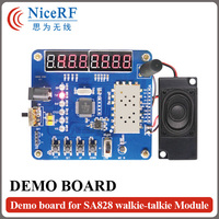 Free Shipping LCD Display Testing Demo Board/Development Board For SA818 VHF Walkie Talkie Module