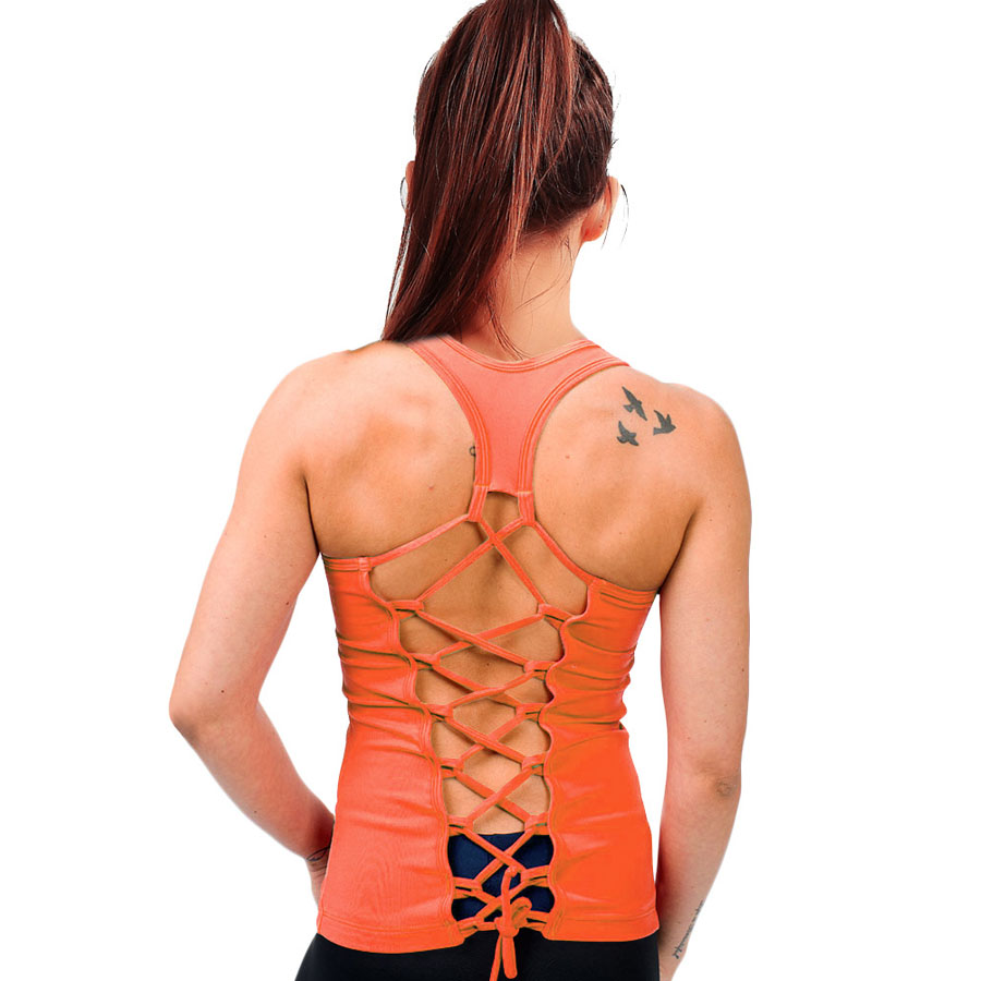 Sporting Solid Backless Sleeveless