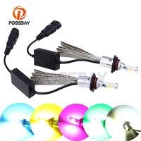 POSSBAY Perfect 9012 LED Light Headlight Beam Bulbs 4000LM 30W 3500K/6500K/10000k Waterproof Auto Headlamp 12V 24V