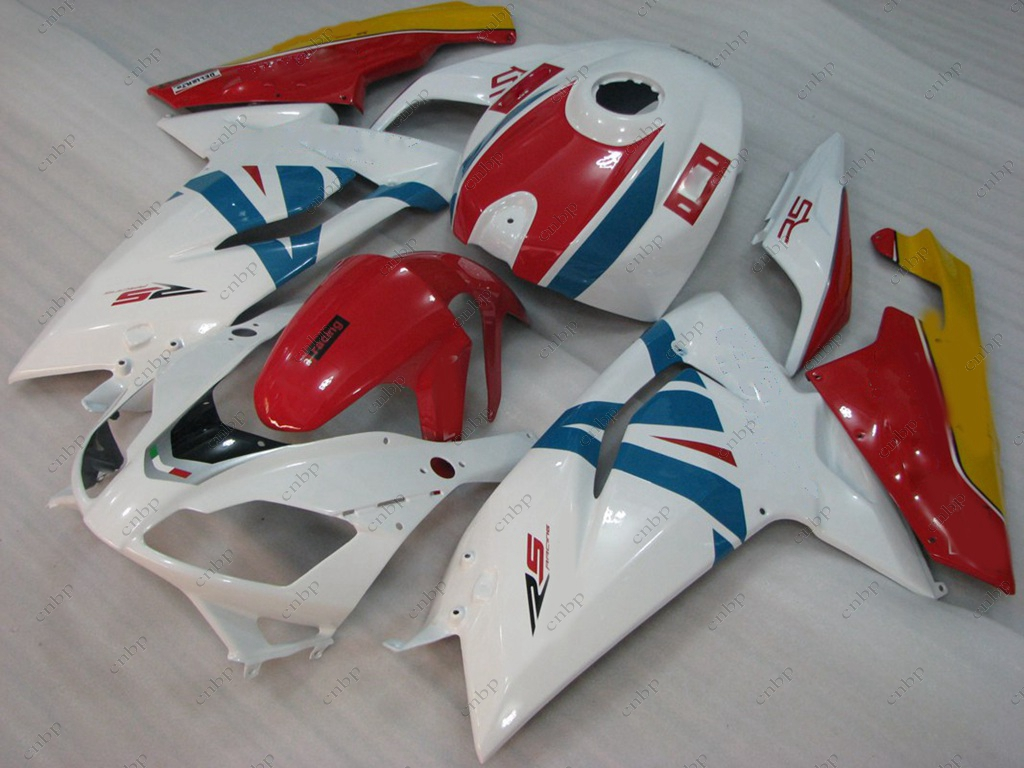 Motorcycle Fairing RS 125 2011 Full Body Kits RS 125 08 09 2006 - 2011 White Red Fairings for Aprilia RS125 07 08