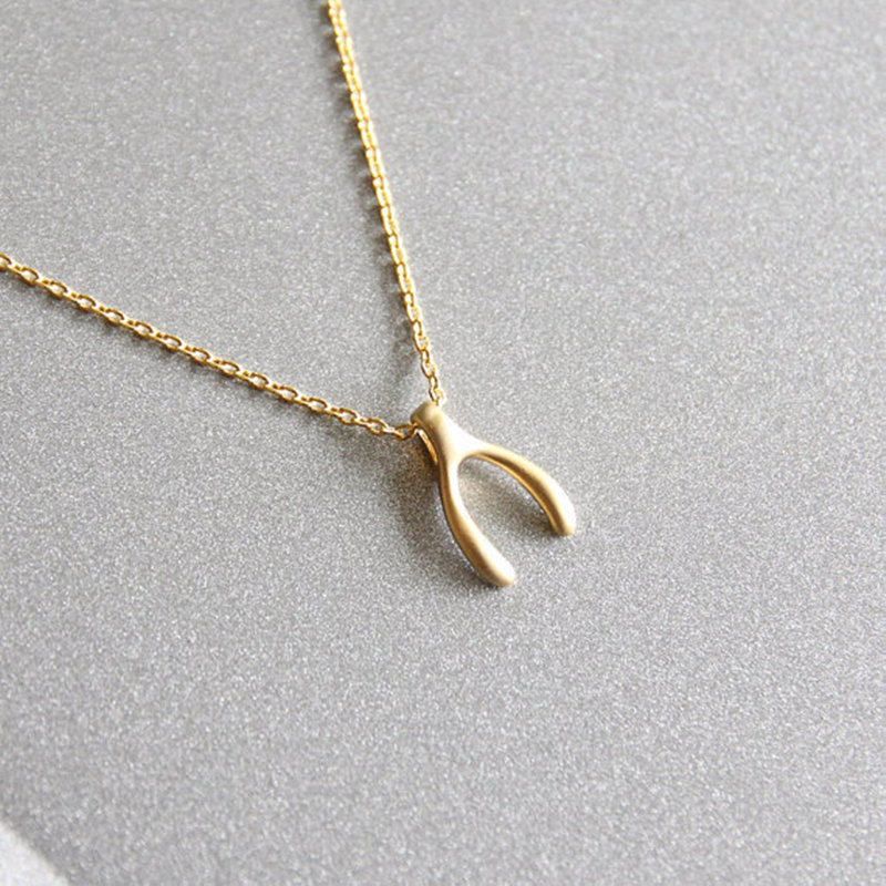 Gold wishbone necklace gold dainty necklace simple gold wish bone gold wishbone necklace gold dainty necklace simple gold wish bone necklace in pendant necklaces from jewelry accessories on aliexpress alibaba aloadofball Image collections