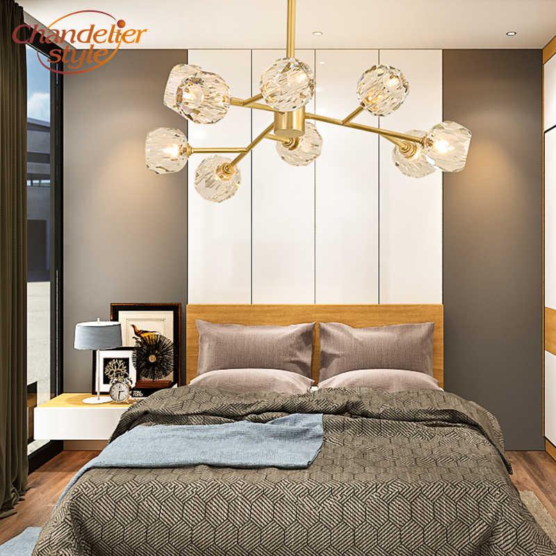 Современные хрустальные Люстра со светодиодным освещением люстра Подвесная лампа для дома гостиная украшение для столовой