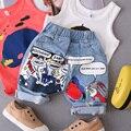 Новые приходят дети мальчики граффити мыть джинсовые брюки детей шорты мешковатые штаны