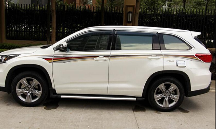 Car Body Sticker Decal Body Film Decorations For Toyota Highlander 2015 2016 2017 Car Styling EXterior Accessories