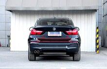 Нержавеющая Сталь Внешний Задний Ворота Хвост Дверь Крышка Молдинг Streamer крышка Накладка Для BMW X4 2014 2015 Автомобилей Стайлинг аксессуары!