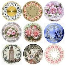 Полный квадрат 5d diy алмазная живопись настенные часы цветок 3d Алмазная вышивка Стразы мозаика украшение 40x40 см