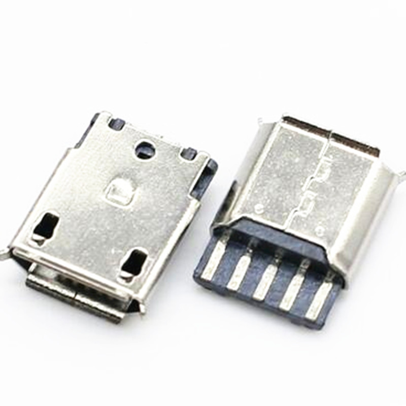 10Pcs Micro USB 5pin Female Socket Connector Welding Type for Tail Charging Mobile Phone 100pcs 10pcs each for 10 kind micro usb 5pin jack tail socket micro usb connector port sockect for samsung lenovo huawei zte htc