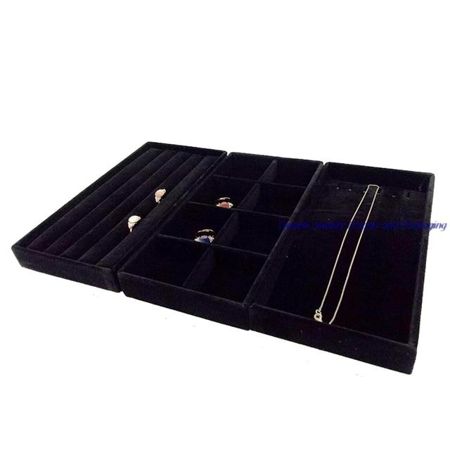 Hot Sale Portable Jewelry Display Velvet Tray Ring Display Storage