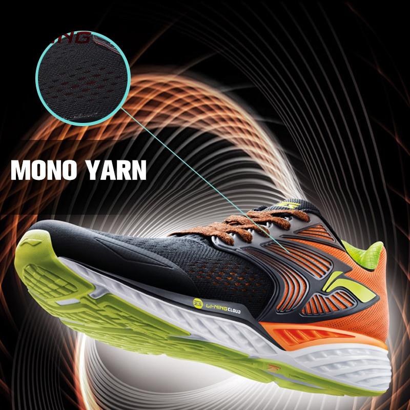 Li-Ning Men's LN CLOUD IV PLUS Cloud IV Professional Running Shoes Cushion LiNing MONO YARN Sneakers Sports Shoes ARHM019 XYP547 original li ning men professional basketball shoes