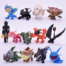 Free Shipping 7/8/13pcs/set 5~7cm How to Train Your Dragon 2 Night Fury Toothless PVC Action Figures Christmas Gifts