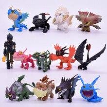 Il trasporto Libero 7/8/13 pz/set 5 ~ 7 centimetri How to Train Your Dragon 2 di Notte Fury senza denti del Drago Action Figures PVC Regali Di Natale