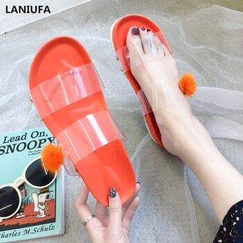 Sandalias planas de verano para mujer, zapatillas para interior y exterior de PVC, Chanclas de playa, zapatillas informales para mujer, zapatillas para mujer y 341