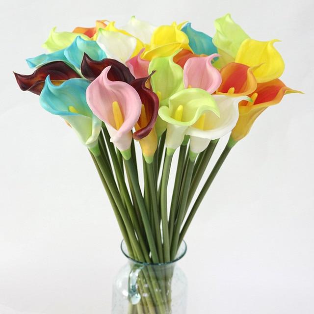Flonw Artificial Latex Calla Lily Flower Artificial Flower Branch ...