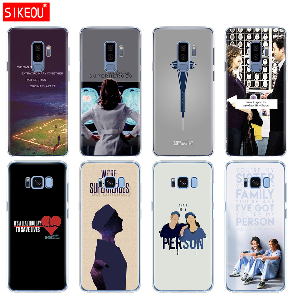 Fitted Cases Just Iyicao American Tv Greys Anatomy Nurse Doctor Pattern Soft Phone Case For Samsung Galaxy S10 S9 S8 Plus S6 S7 Edge S10e E Cover
