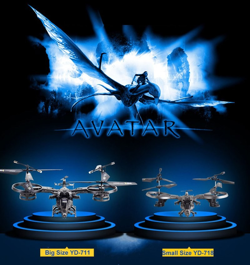 Large AVATAR YD711 YD-7112.4G 4ch RTF Rc Helicopter Gyro Ready To Fly Control remote control toy with colo box and express ship коробка для мушек snowbee slit foam compartment waterproof fly box x large