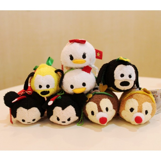 TSUM TSUM Christmas Mickey Minnie Mouse Chip Dale Pluto Goofy Daisy