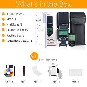Image 2 - Godox TT685C TT685N TT685S TT685F TT685O TTL HSS Camera Speedlight Flash with Xpro Transmitter for Canon Nikon Sony Fuji Olympus