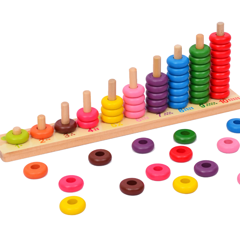 Kids Wooden Toys Child Abacus Counting Beads Maths Learning Educational Toy Math Toys Gift 10 Level Clouds Computation Beads