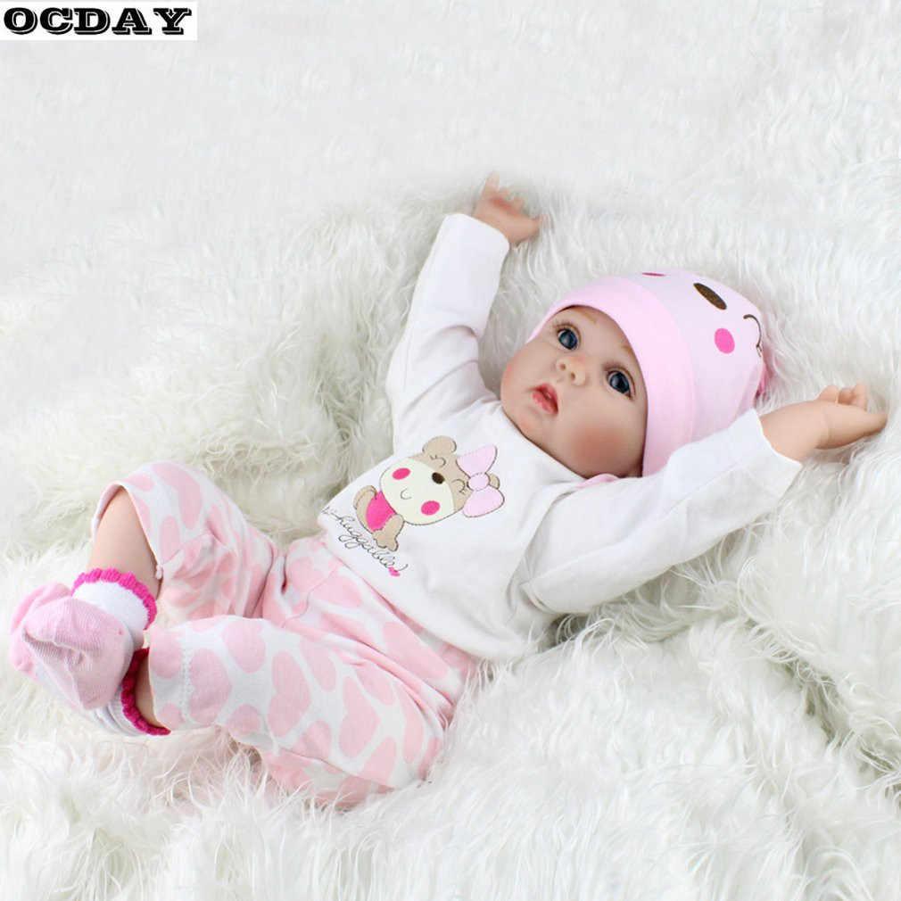 55 см мягкие виниловые куклы Reborn Baby, ручная работа, дизайн, ткань, тело, силикон, реалистичные, живые, куклы, игрушки для детей, рождественские, для девочек