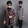 Fashion Coat for Boys Trench Winter Plaid Outerwear Casual Children Jackets Kid Windbreaker Clothing Infant Long Streetwear 4-14