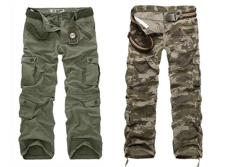Cotton Cargo Military Pants